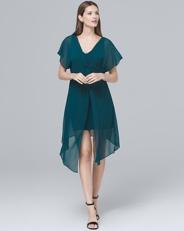 Overlay Chiffon Shift Dress | Tuggl
