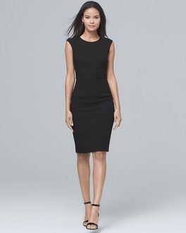 Body Perfecting Black Sheath Dress | Tuggl