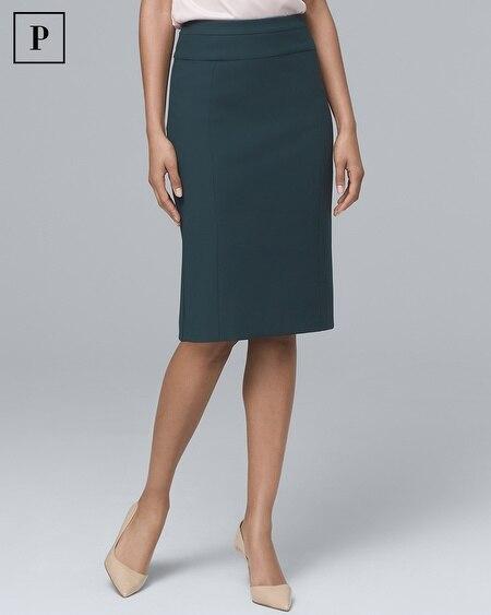 Petite Comfort Stretch Pencil Skirt
