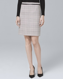 Plaid Suiting Boot Skirt by Whbm