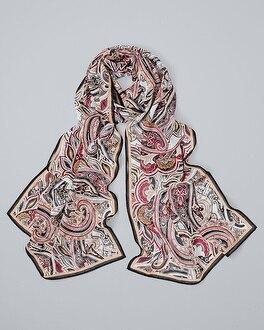 Paisley-Print Oblong Scarf | Tuggl