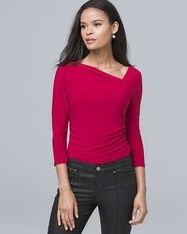 Asymmetric Knit Top by Whbm