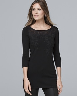 Sweater Lace Detail Tunic by Whbm