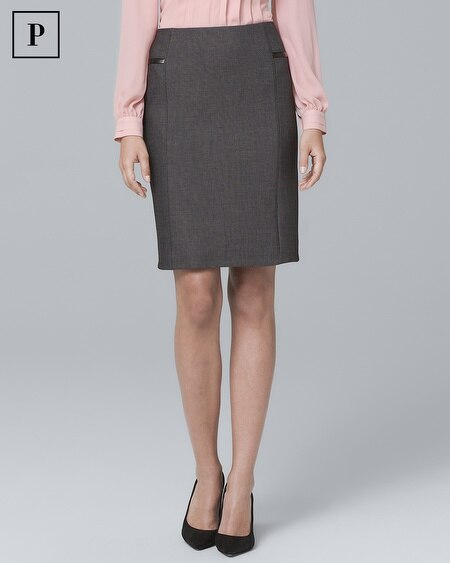 Petite Luxe Suiting Pencil Skirt