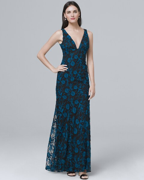 deeac9e6a13 Return to thumbnail image selection Embroidered V-Neck Gown video preview  image