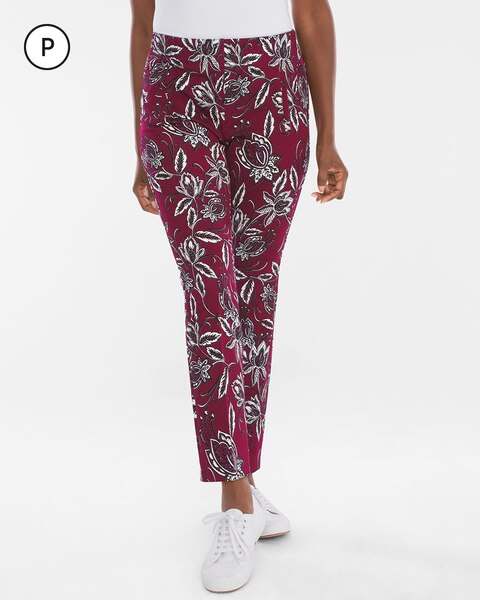 So Slimming Petite Juliet Parisian Floral Ankle Pants