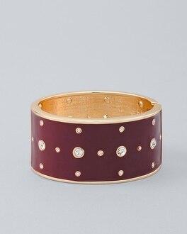 Embellished Enamel Wide Cuff Bracelet by Whbm
