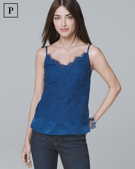 Petite Lace Overlay Cami by Whbm