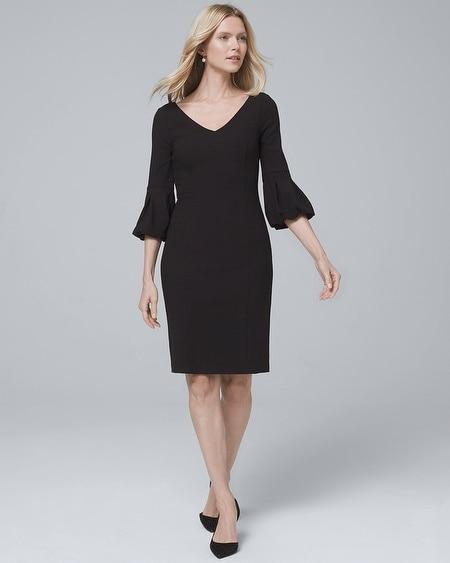 Black Sheath Dress with Sleeves