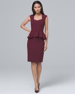 Body Perfecting Peplum Sheath Dress by Whbm