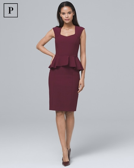 Petite Body Perfecting Peplum Sheath Dress