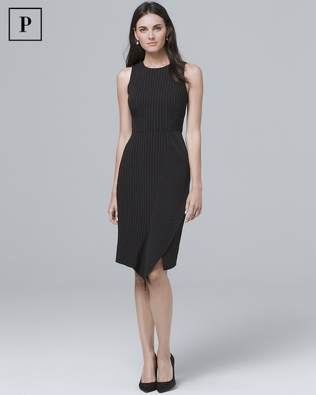 Petite Pinstripe Sheath Dress
