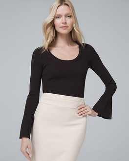 Flare Sleeve Sweater by Whbm