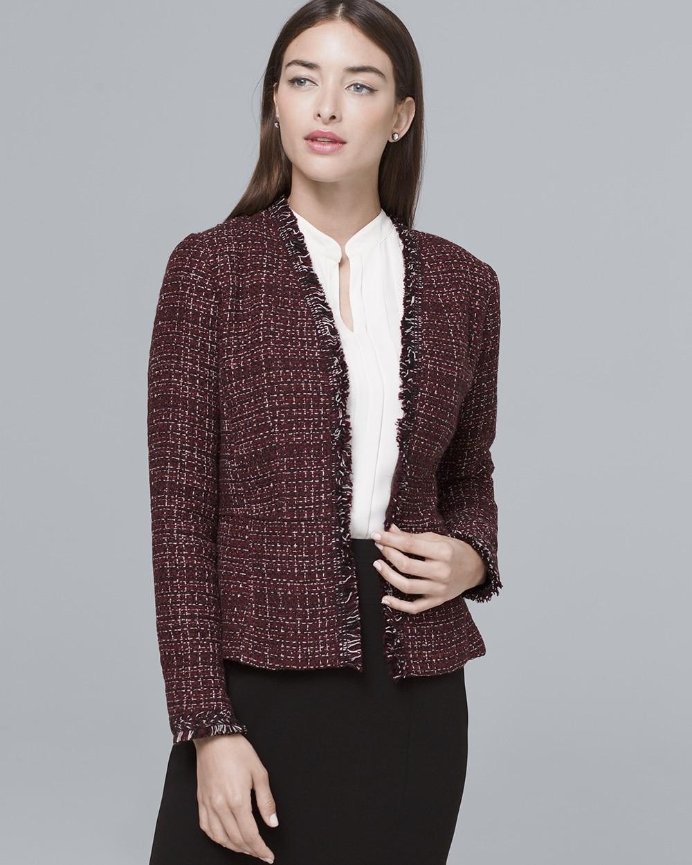 Peplum-Detail Sweater Jacket