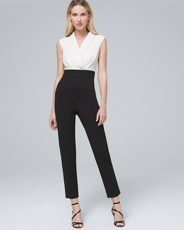 Contrast V Neck Jumpsuit by Whbm