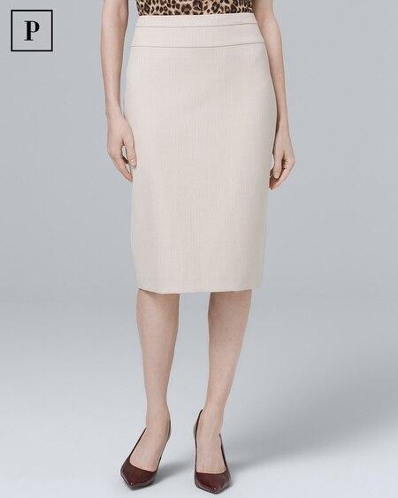 Petite Herringbone Suiting Pencil Skirt