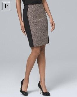 Petite Tweed Boot Skirt by Whbm