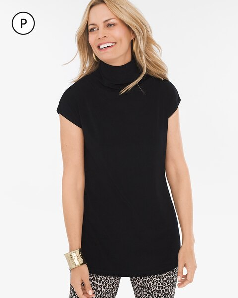 Travelers Classic Petite Mock-Neck Top