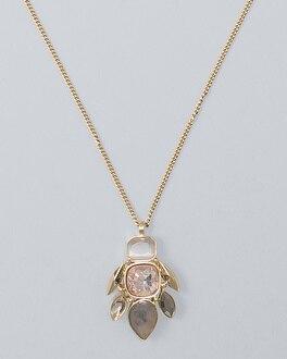 Multi-Stone Long Pendant Necklace | Tuggl