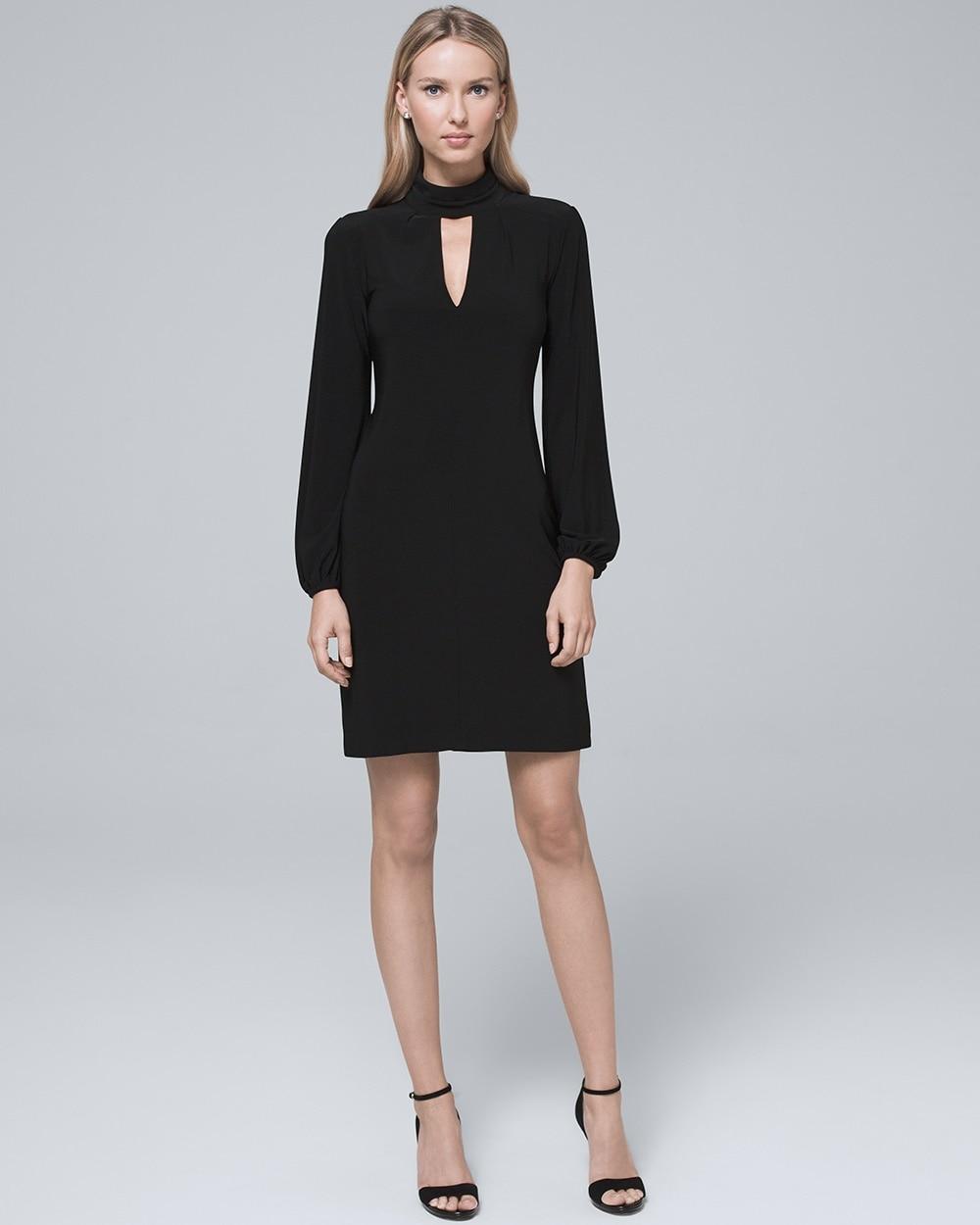 d51c312cbf Black Mock Neck Shift Dress - White House Black Market