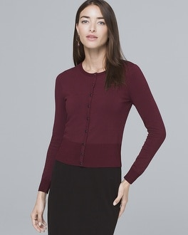 Pavé Snap Front Cardigan by Whbm