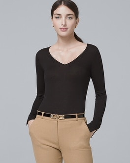V Neck Sweater by Whbm