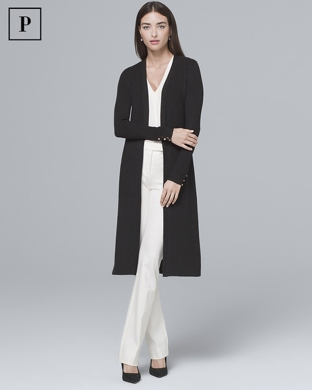Petite Ribbed Duster