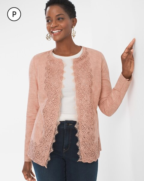 Petite Perforated Sueded Jacket