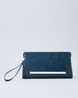 Suede Panel Clutch by Whbm