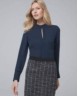 Pleat Detail Blouse by Whbm