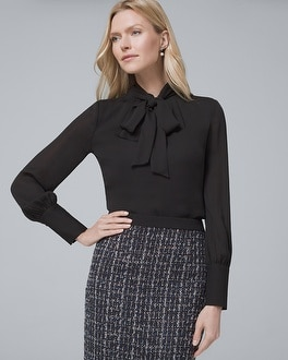 Tie Neck Blouse by Whbm