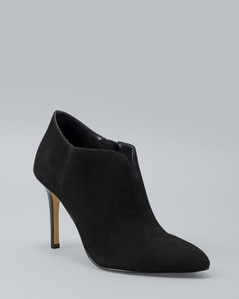 Suede Notch Front Booties by Whbm
