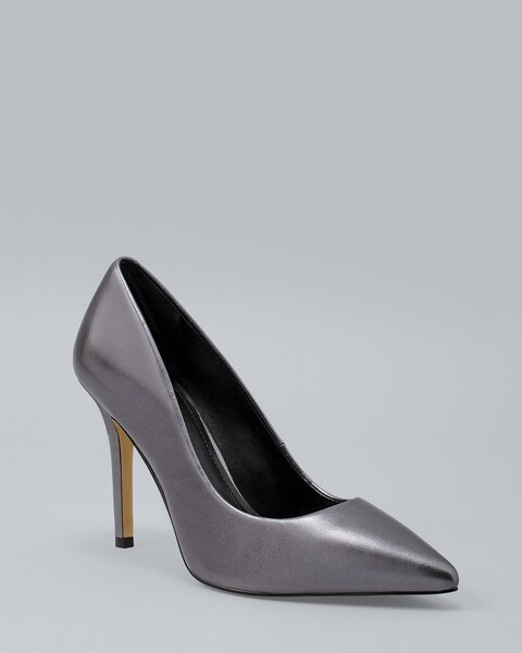 166013e6162 Olivia Metallic Leather Heels - White House Black Market