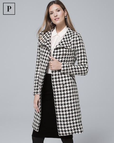 Petite Houndstooth Coat by Whbm