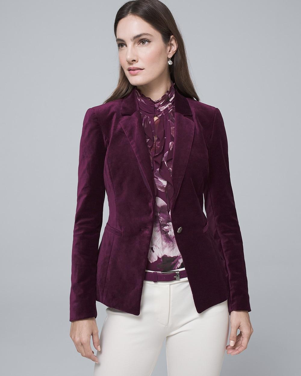 Velvet Jacket - White House Black Market 039de0557