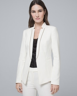 Ball Chain Suiting Blazer by Whbm
