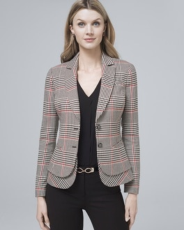 Plaid Suiting Jacket by Whbm