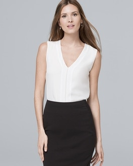 V Neck Shell by Whbm