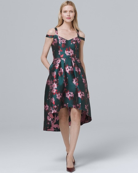 Strapless Floral High Low Dress White House Black Market