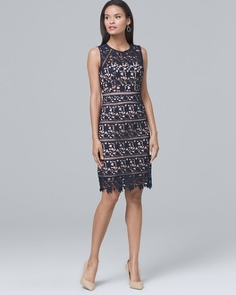 Lace Midi Sheath Dress | Tuggl