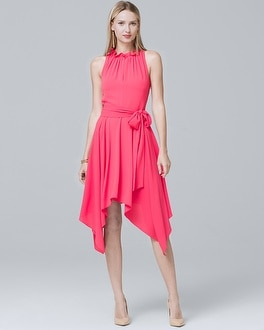 Handkerchief-Hem Fit-and-Flare Dress | Tuggl