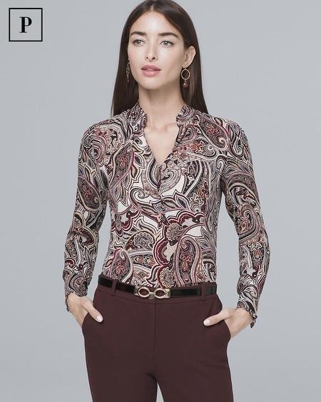 Petite Silk Paisley Shirt