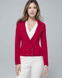 Petite Double Breasted Knit Jacket by Whbm