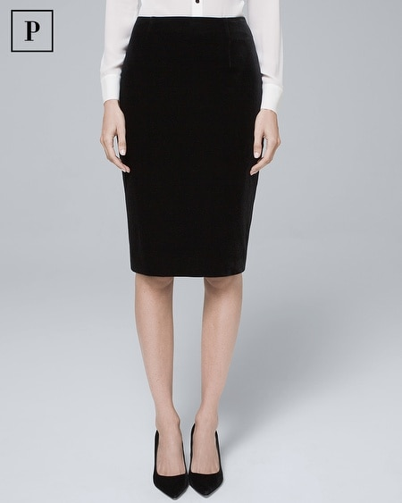 Petite Velvet Pencil Skirt