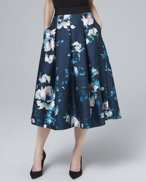 67f25f30780e Return to thumbnail image selection Floral-Print Full Midi Skirt video  preview image, click to start video