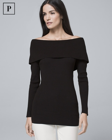 Petite Bow-Back Sweater