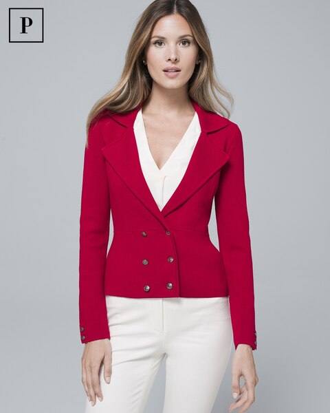 cf2309ff239f Petite Double-Breasted Knit Jacket - Shop Women's Petite Clothing - White  House Black Market