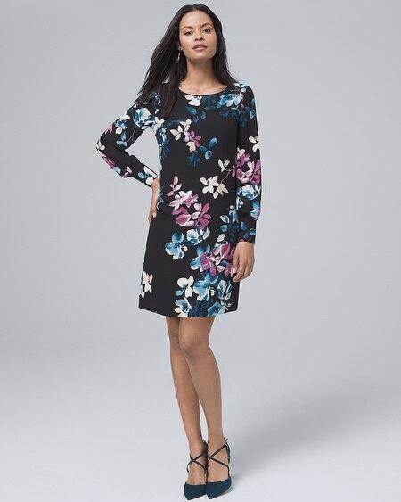 Fl Print Shift Dress