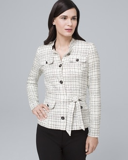 Windowpane Tweed Jacket by Whbm
