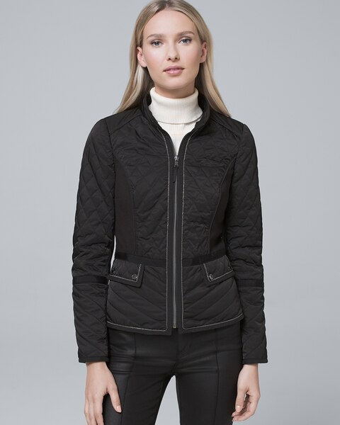 dabcfa5c06916 Return to thumbnail image selection Removable Faux Fur Trim-Collar Quilted  Puffer Jacket